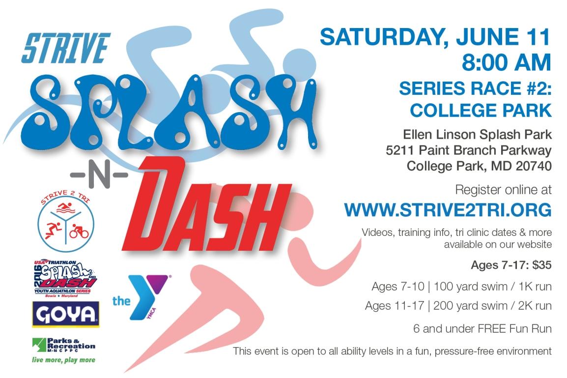 Splash -N- Dash Race Series #2: CollegePark